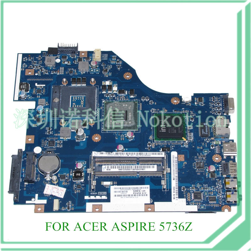 NOKOTION MB.TZZ02.001 PEW72 LA-6631P REV 1.0 MBTZZ02001 mainboard For acer aspire 5736z laptop Motherboard GM45 DDR3 15.6'' nokotion la 5481p laptop motherboard for acer aspire 5516 5517 5532 mbpgy02001 mb pgy02 001 ddr2 free cpu mainboard