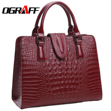 OGRAFF Genuine leather bag ladies 2017 crocodile pattern Women messenger bags handbags women famous brand designer high quality