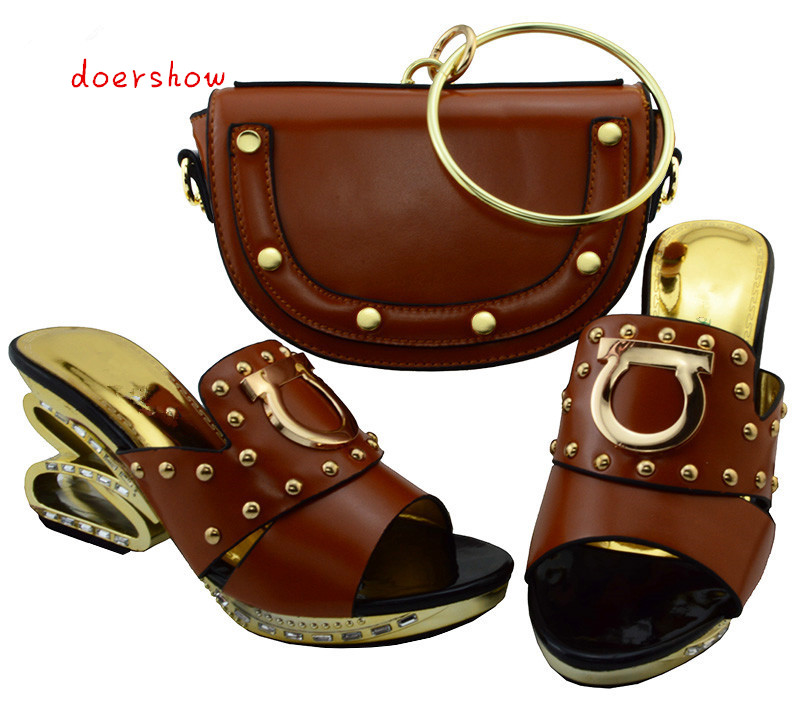 doershow Shoes and Bags To Match Set Sale Nigerian Party Shoes and Bags To Match Italian Shoes and Bag Set for Wedding  YM1-9