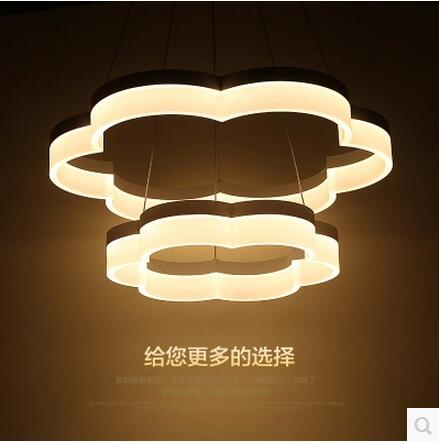 LED 81W-100W Acrylic Sweet Atmosphere Pattern Sitting Room Dining-room Bedroom Chandeliers 1100-240V  @-9 led 80 60cm 81w 100w acrylic sitting room bedroom conference room dining room circle pendant lamps 85 265v 9