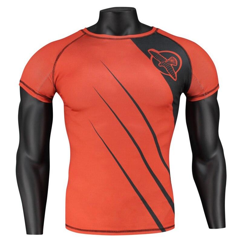 Fitness MMA Running Gym Shirt Men Rashguard Male Boxing T Shirt Crossfit Bodybuilding Men Skull Print 3D T Shirt Tops
