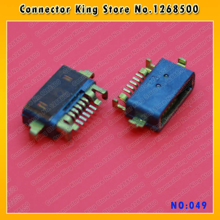 30PCS/LOT Charger Port Micro USB Dock Connector Parts For Sony LT15i MT15i LT18i X9 X12 ST27 MT1 XiaoMi 2 mobile phone