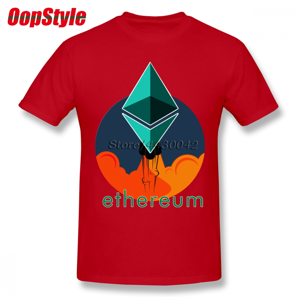 Rockets To The Moon: Rocket To The Moon Ethereum T Shirt For Men Dropshipping