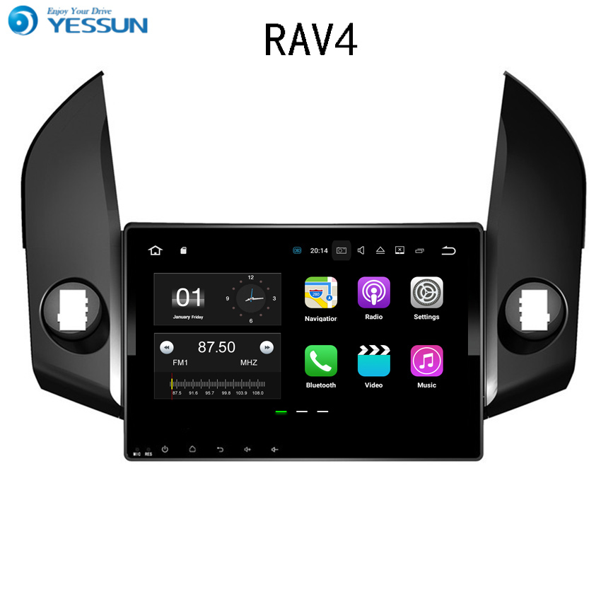 YESSUN Android <font><b>Car</b></font> Navigation GPS For <font><b>Toyota</b></font> <font><b>RAV4</b></font> <font><b>2006</b></font>~2009 HD Touch Screen Audio Video Radio Stereo <font><b>Multimedia</b></font> Player No CD DVD image
