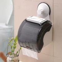 Waterproof Bathroom Toilet Wall Sucker Roll Holder Tissue Box Paper Stand Fast Absorption