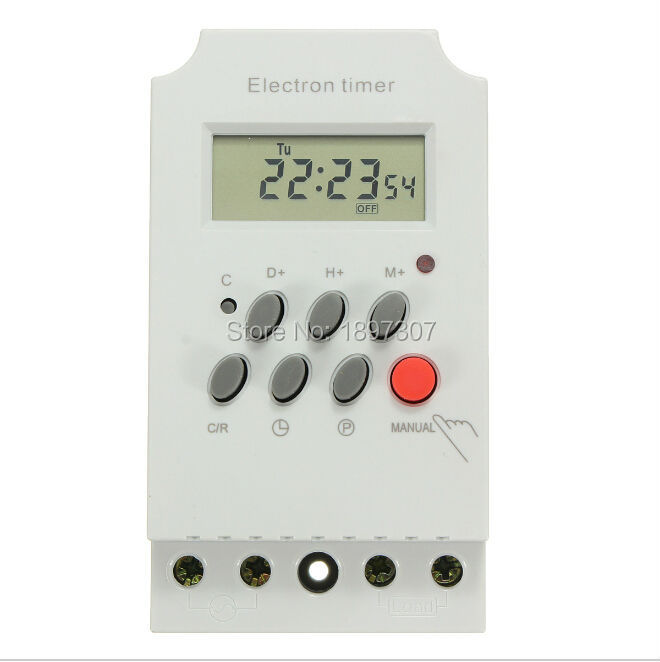 New 220v 25a Din Rail Digital Programmable Electronic Timer Switch High Quality Tools Measurement & Analysis Instruments