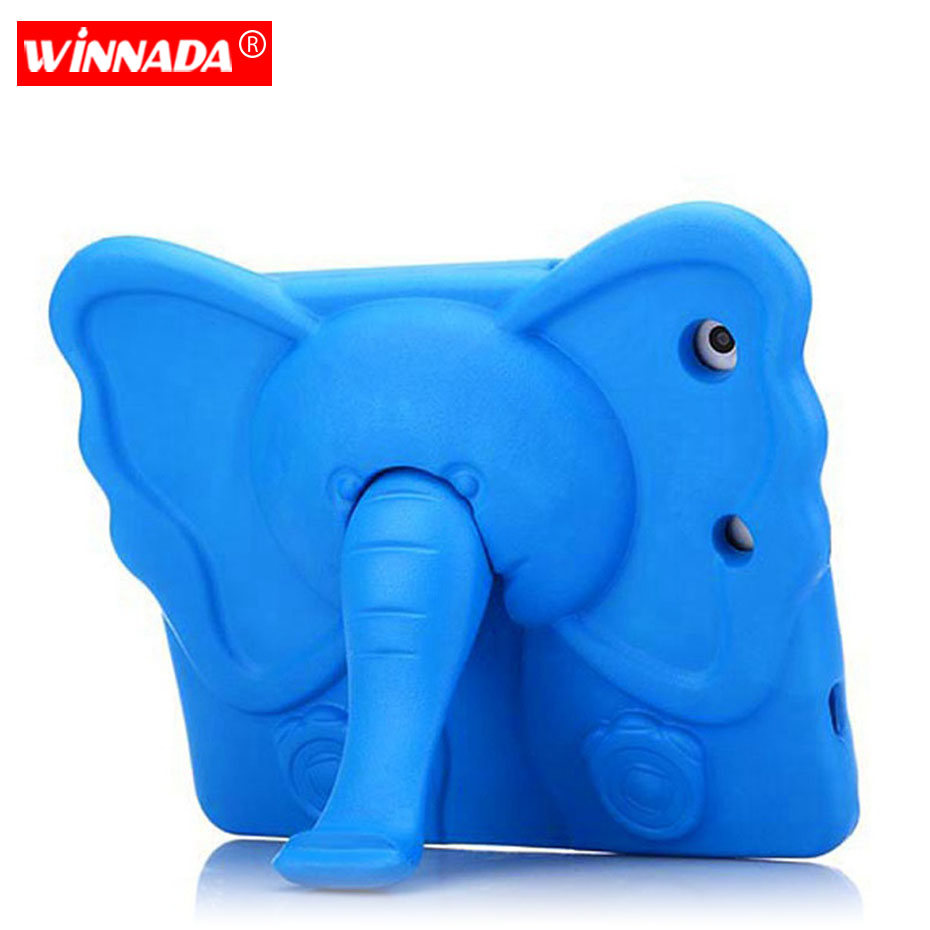 Kids case For ipad mini Cute elephant Cartoon 3D Protective Non toxic EVA Foam Shockproof Stand Cover For ipad mini 1 2 3 4 in Tablets e Books Case from Computer Office