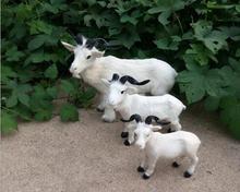 WYZHY Simulation fur animal goat handmade garden home decoration 38cm