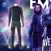 Movie Avengers Infinity War Winter Soldier Cosplay Costume Men Halloween Bucky Barnes For Adult Custom Made