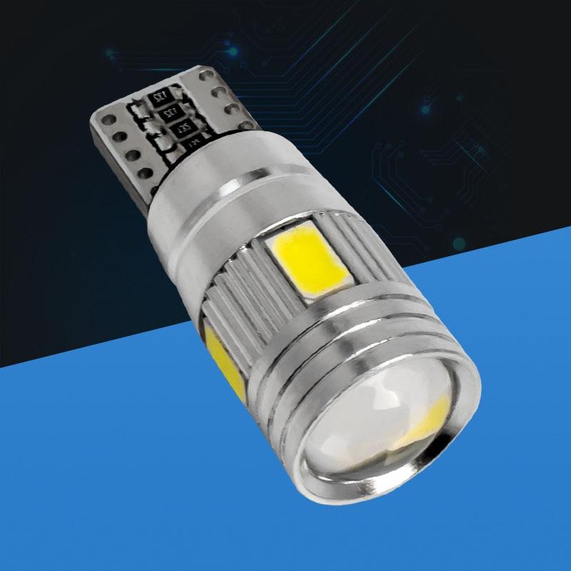 T10 CAR BULBS LED ERROR FREE CANBUS 5 SMD XENON WHITE W5W 501 SIDE LIGHT BULB