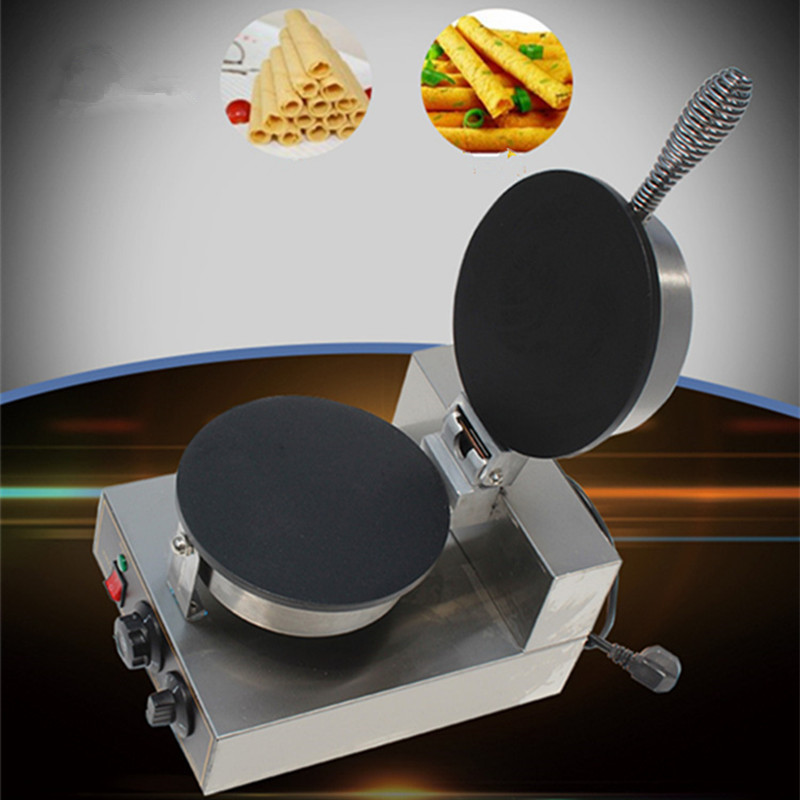 Electric single-head roll machine Flat pizza machine Commercial egg roll machine Thickening mold Egg roll machine Baking цена