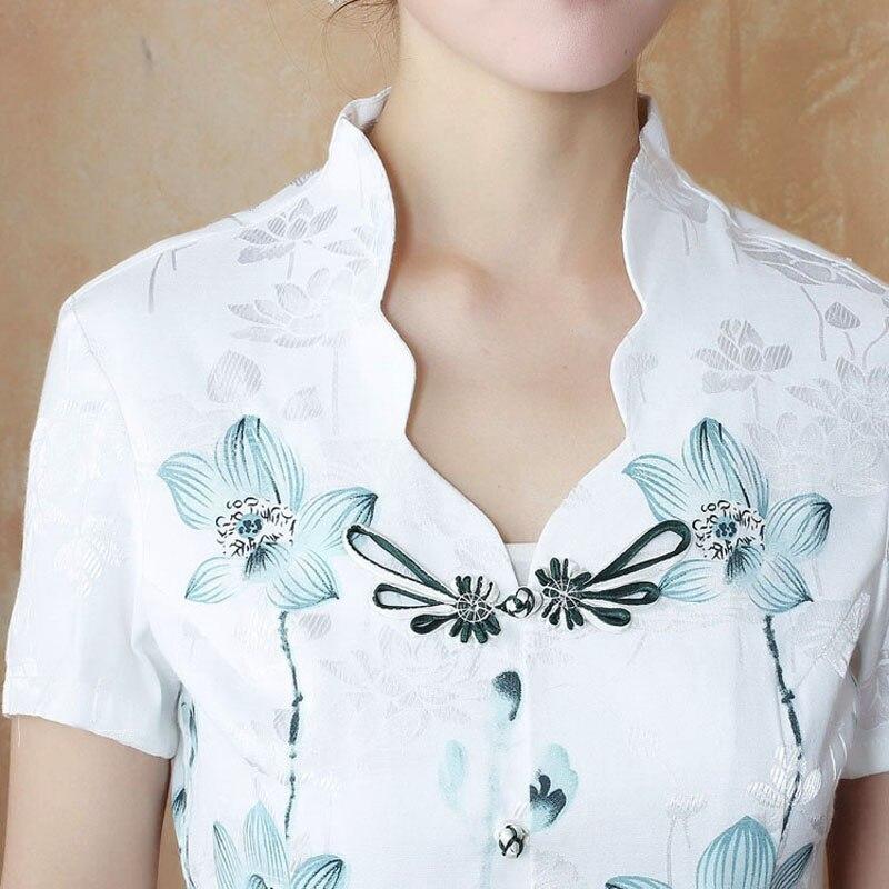 Coton Courtes Top Traditionnelle Blouse De Tyr051907 Été À Manches Chemise Style S Nouveau Chinois Mujer Camisa Femmes L Xxl Xl wpvvCqB8