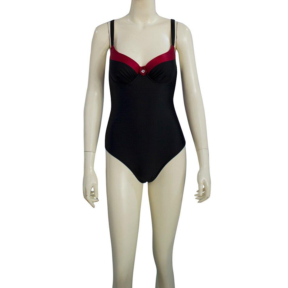 ESSV One Piece Push Up Swimsuit Plus Size Swimwear 2019 Women Sexy Padded Summer Bathing Suit Beachwear Patchwork Bodysuit-1
