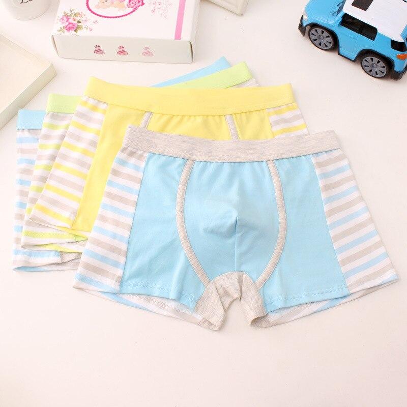 4 pieces/lot Children's underwear boy's cotton flat horn underwear big boy's four-angle underwear shorts Tobani 3