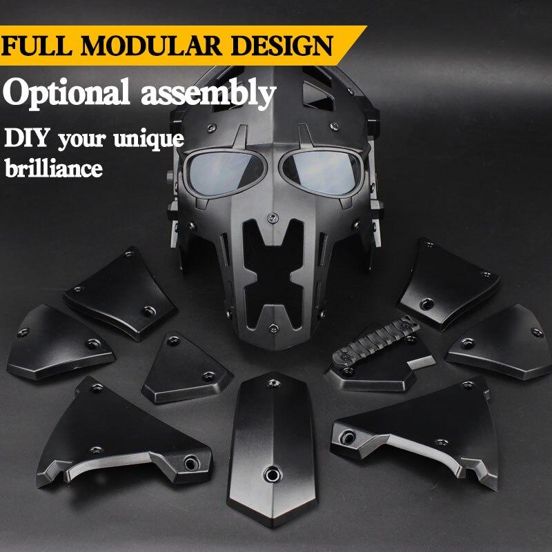 Airsoft tactique militaire masque facial visage complet Paintball masque militaire armée de protection CS jeu masque casque tactique