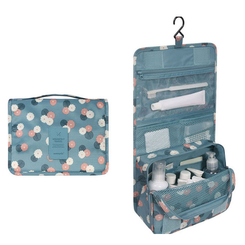 Travel Hanging Cosmetic Bag with Hook Storage Bag For Women Outdoor Make Up Organizers Toiletries Beauty Case