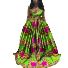 African Dresses for Women Plus Size Floor Length Dashiki Prints Sleeveless Evening Ankara