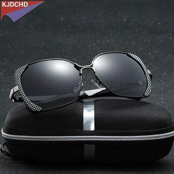 2019 Neue Polarisierte Frauen Sonnenbrille Mode Weibliche Große Runde Rahmen Marke Designer Retro Cat Eye Sonnenbrille