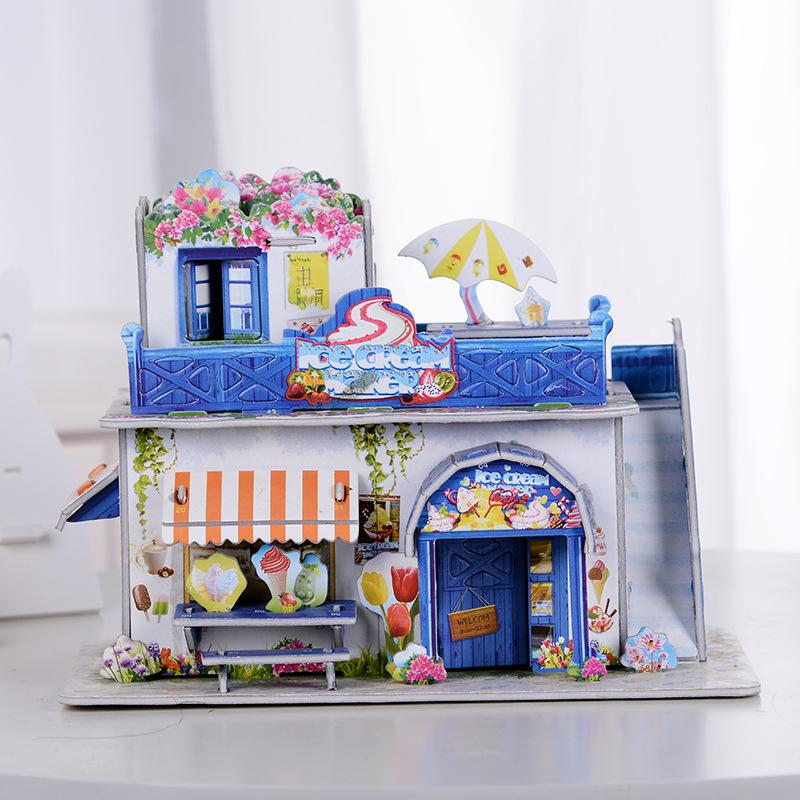 nuevo diseo de niza helado de casas modelo diy d puzzle jigsaw puzzle juguetes educativos del