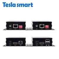 Many To Many IP Network KVM Extender High Quality 120m USB HDMI IR KVM Extender By