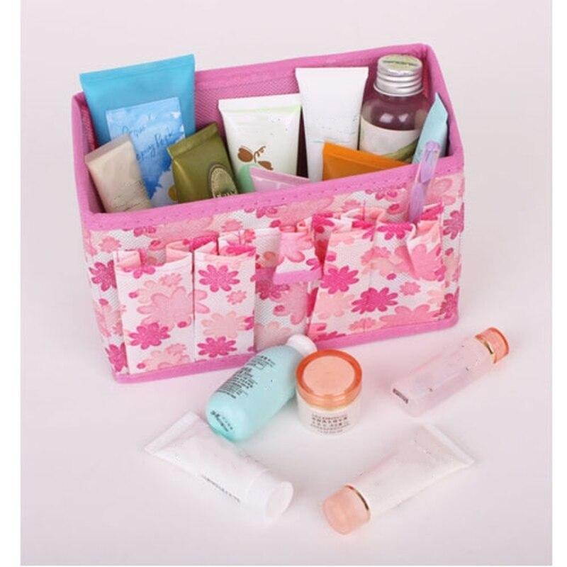 ETya Fashion Fresh Folding Multifunction Makeup Bag Flower Women Cosmetic Bags Organizer Case