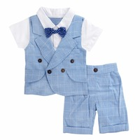 Baby Boys Gentleman Clothing Set Infant Wedding Suit Summer Clothes Newborn Baptism Gift Ropa Bebe Toddler