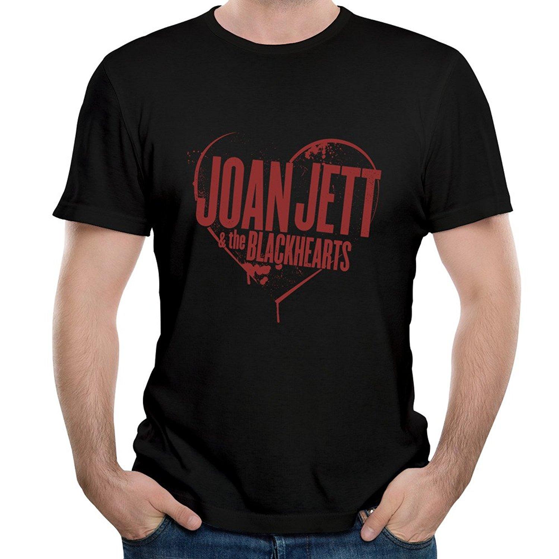 Cotton T Shirt Fashion MenS Joan Jett The Blackhearts Crimson Clover Song Graphic Tee Shirt