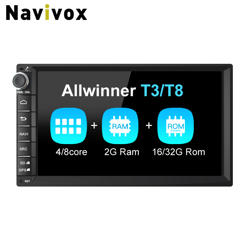 Navivox 7'' 2Din Car Multimedia Player Universal Car GPS Navigation Radio Stereo Audio Player for Nissan,for Hyundai, (no dvd) navivox android7 1 8 1 universal gps navigation radio stereo audio player for nissan for hyundai rds swc bt wifi no dvd