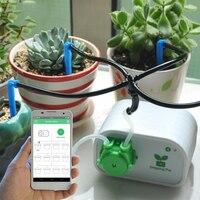 をインテリジェント自動給水コントローラ散水タイマー庭の携帯電話制御屋内植物灌漑システムしずく