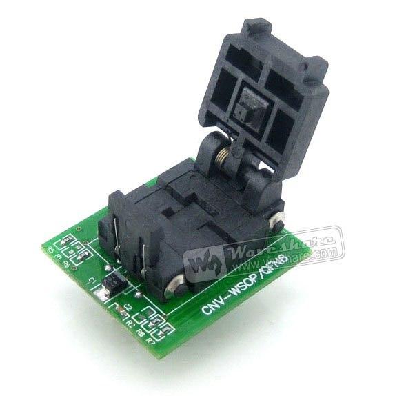 QFN8 à DIP8 IC prise de Test adaptateur de programmation QFN8 MLF8 MLP8 paquet Plastronics 08QN12T16050 prise 1.27mm pas - 2
