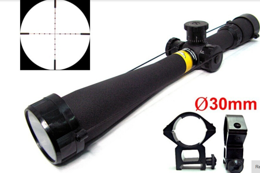 Tactical 8 32x44 AO Mil Dot Side Wheel Focus Waterproof , fogproof and shockproof Rifle Scope for hunting