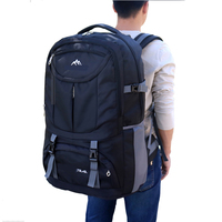 Men Huge Capacity Backpack Multi Purpose Backpack Women Travelling Outdoors Camping Bag Oxford Panelled Sports Style