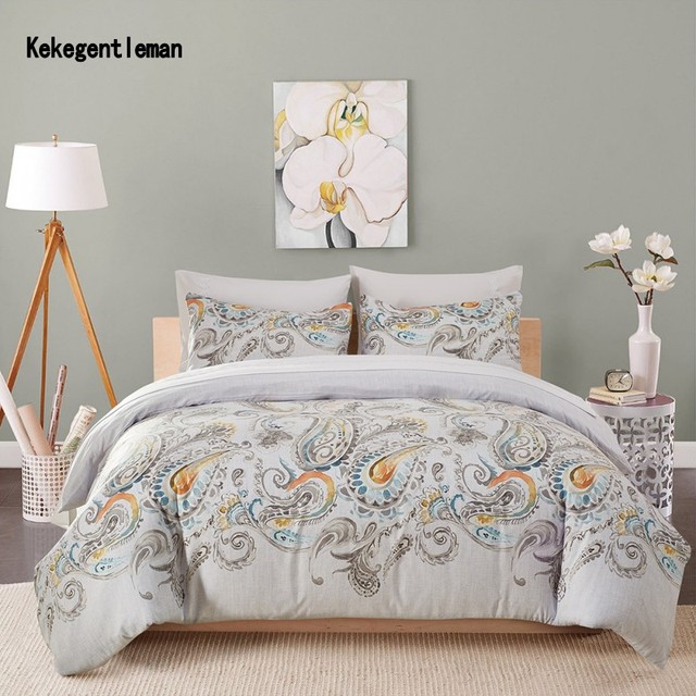 Printed Bedding set Duvet Cover Set Twin Queen King Size Microfiber Fabric Duvet Cover & Pillowcase Home Textile