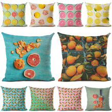 New Arrive Fruit Cushion Cover Decorative Sofa Throw Pillow Car Chair Home Decor Pillow Case almofadas shabby chic car decorative cushion cover retro truck mini bus game chair pillow cover 45cm pillow case home decor sofa bedding