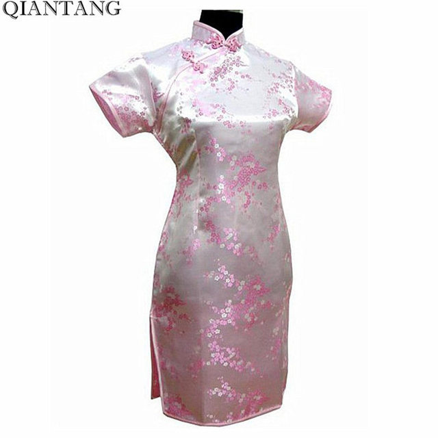 Женское атласное платье-Ципао, черное традиционное китайское платье, мини-Ципао с цветочным принтом, размеры S, M L XL XXL XXXL 4XL 5XL 6XL, J4039 3