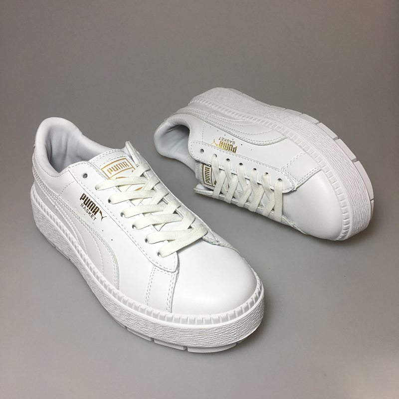 2018 PUMA x FENTY Suede Cleated Creeper Womens Fourth Generation Rihanna Classic Basket Suede Tone Simple Badminton Shoes