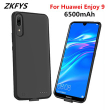 ZKFYS Ultra Thin Fast Charger Battery Cover for Huawei Enjoy 9 6500mAh Portable Back Clip Case