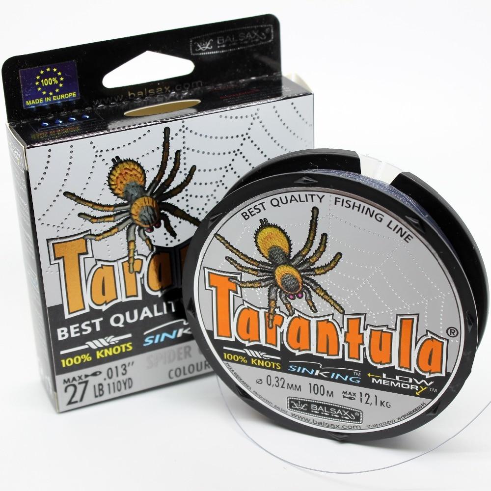 Balsax Tarantula Branding Angelschnur / Geflecht, 4lb-48lb Super Power Sinkleine für Süßwasser & Salzwasser
