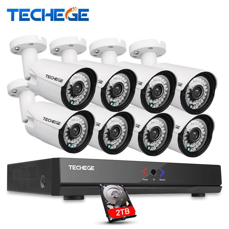 8CH 1080P 48V POE NVR CCTV System 720P 1500TVL Out indoor Waterproof IP66 1 0MP IP