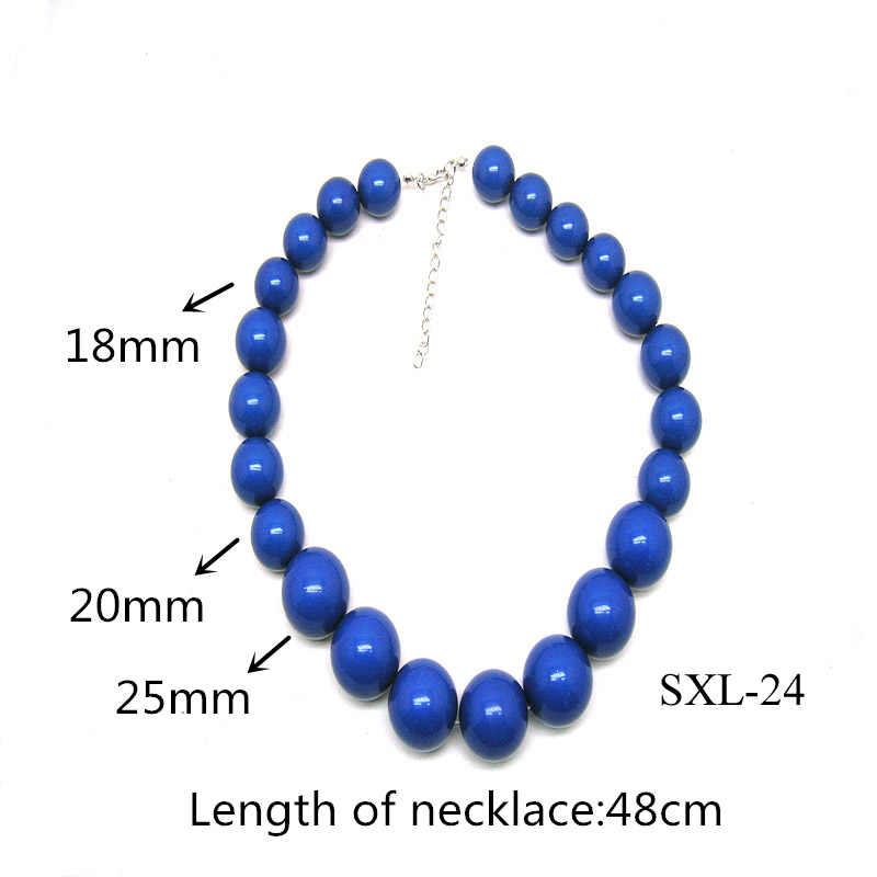 Dandie Two Colors Acrylic Bead Necklace, Trendy Necklace For Women