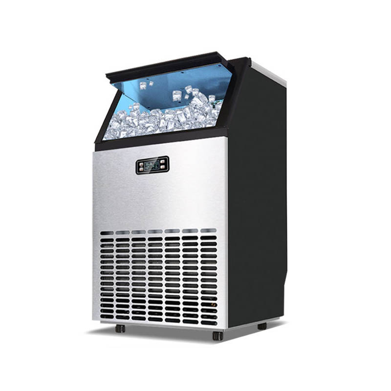 Jamielin 55KG/68KG/80KG/24hours Ice Making Machine Commercial Cube Ice Maker Business Machinery For Milk Tea Bar Coffee Shop