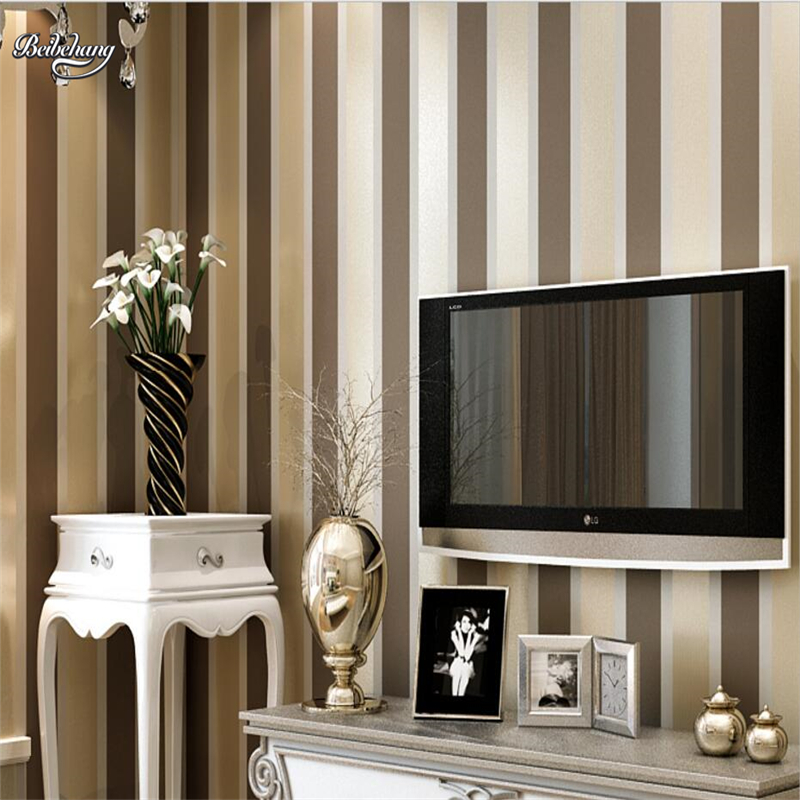 beibehang Vertical and horizontal stripes simple modern