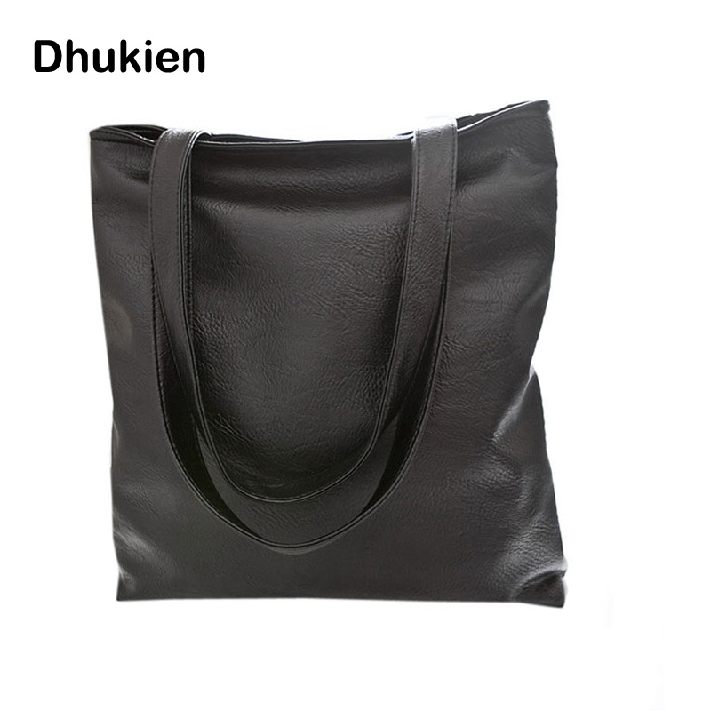 2015 Fashion black women's handbag big PU leather casual women shoulder bag large tote shopping bag ladies beach handbag H15043
