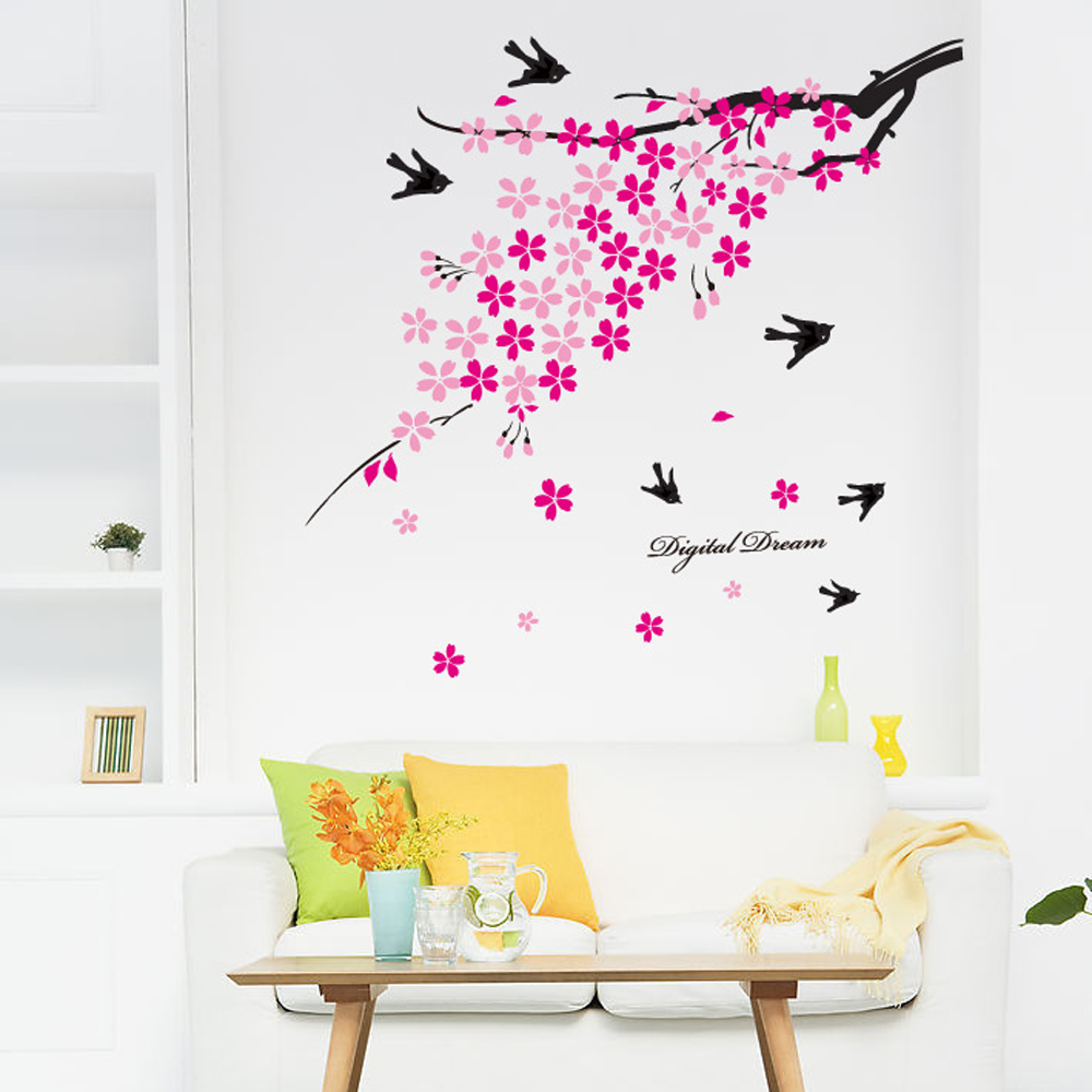 Plum Wall Decor PromotionShop For Promotional Plum Wall Decor On - Diy wall decor birds