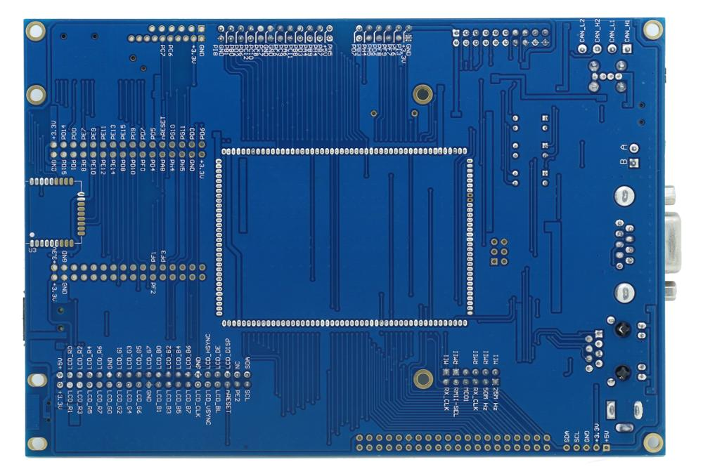 STM32F756IG backplane + core board network, USB CAN, SD, M7 kernel, with SDRAM - 5
