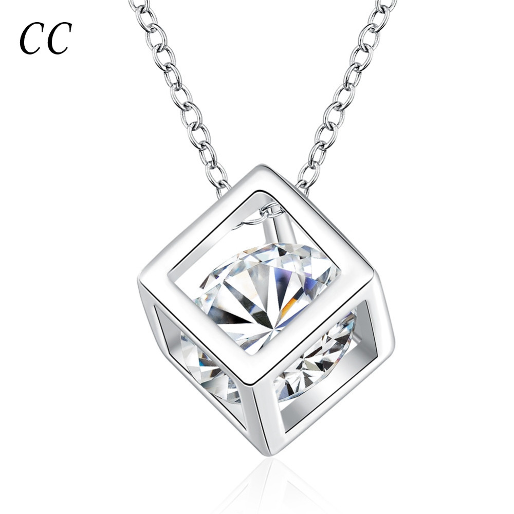 Cheape pendants necklace for women with sliver plated cube jewelry cheape pendants necklace for women with sliver plated cube jewelry unique gifts female wholesale ccne0124 in pendants from jewelry accessories on aloadofball Choice Image
