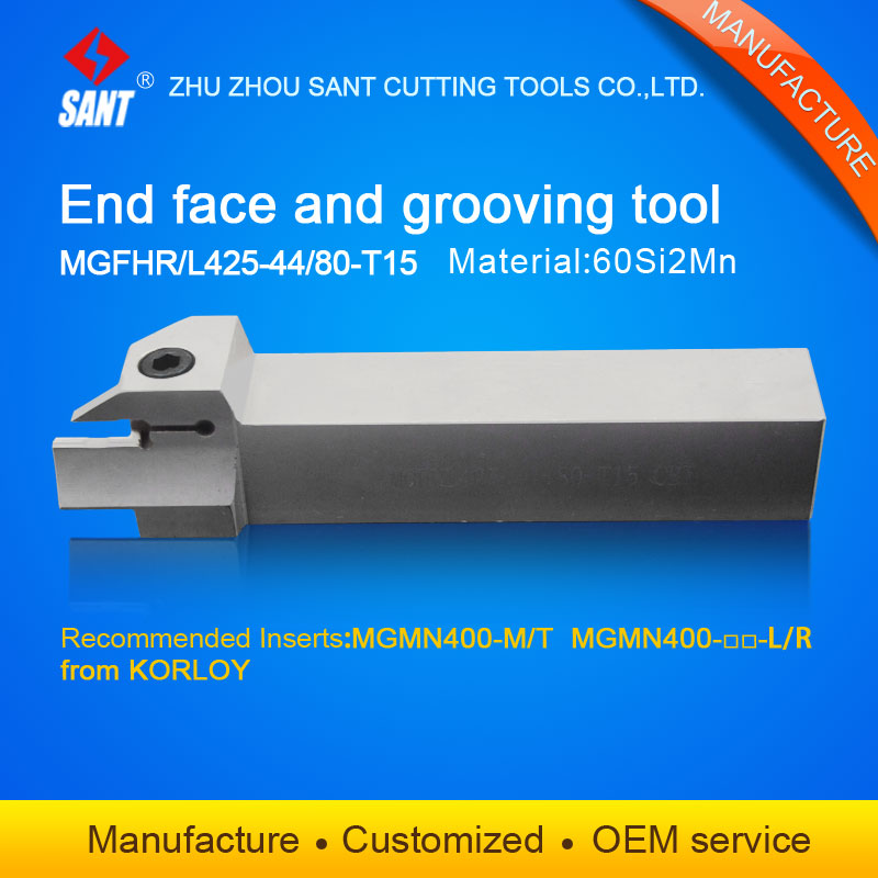Grooving tool holder turning tools MGFHL425 44 80 T15 with Korloy inserts MGMN400 M/T MGMN400 L/R selling hot in abroad