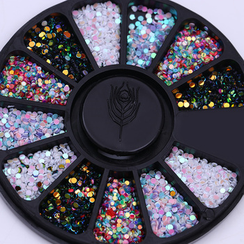 Mixed Color Chameleon Stone Nail Rhinestone Small Irregular Beads  3D Art Decoration In Wheel Accessories
