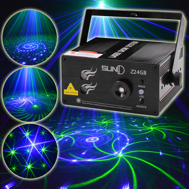 suny laser light gb 24 patterns z24gb blue led stage dj home party show karaoke club - Blue Christmas Karaoke