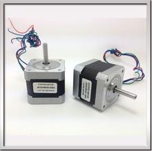 Free shipping NEMA17 0.9degree 42BYGHM381 42HM40-0404 42mm 2Phase Hybrid Stepper Motor 12V 0.4A 4-wire 3.4Kg.cm 40mm 3D printer